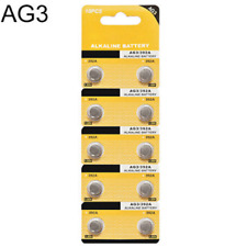 10PCS 1.5V AG3 LR41 392 SR41 192 Alkaline Button Coin Cells Watch Battery Sturdy