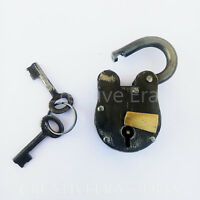 Antique Style Metal Lock and skeleton Keys Police Jailer Padlock Vintage Gift