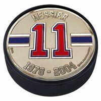 Mark Messier New York Rangers 3D Textured Silver Plated Medallion Hockey Puck