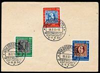 Bund MiNr. 113-15 Briefstück Sonderstempel (Z4408