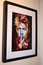 DAVID BOWIE RARE ART WORK QUALITY PHOTO A4 BOX FRAMED 16X12 GLAM ROCK