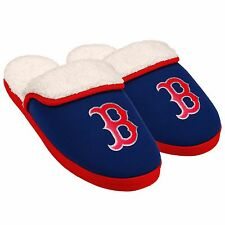 Boston Red Sox Slippers Logo NEW Womens Slide House shoes! Glitter Patch