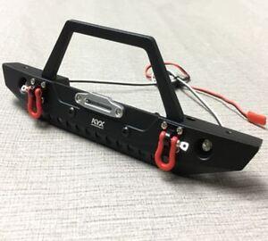 Metal Front Bumper w/ Bull Bar for Traxxas TRX-4 Axial SCX10 II Redcat GEN8