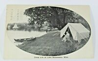 Vintage Lake Minnetonka Camp Postcard 1910 Rare Posted Greeting Card Collectible
