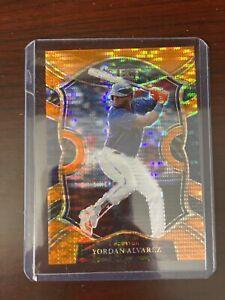 2021 FOTL Panini Select Baseball Yordan Alvarez #2/18 SSP Orange Pulsar Prizm