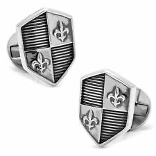 Sterling Silver Shield Cuff links