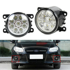 2x 9LED Round DRL Daytime Running Driving Lights Fit for Ford Focus Acura Honda