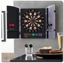 Professional Bullshooter Electronic Dart Board Set Game Tournament Wood Cabinet