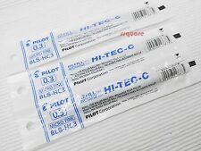 6 Refills for Pilot Hi-Tec-C 0.3mm Micro Fine Rollerball Gel Ink Pen, Blue