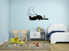 ik187 Wall Decal Sticker Decor funny sleeping cartoon crow interior kids