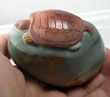 #3 273g 3in Natural Jasper Hand Carved Sea Turtle Carving Specimen 9 5/8 oz 77mm