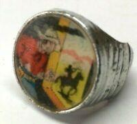Vintage 1950's Cracker Jack Gumball  Prize FLICKER RING Western Cowboy Indian