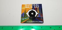 """National Train Day Pin, 5/11/13 - Trains Matter To Me - 2 1/2"""" square railroad"""