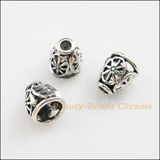 20Pcs Tibetan Silver Tone Flower Cone End Bead Caps Craft DIY 8x9mm