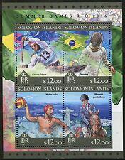 SOLOMON ISLANDS 2016 SUMMER GAMES RIO 2016 OLYMPICS  SHEET  MINT NH