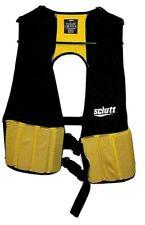 Schuss Hard Shell Rib Protector Black & Yellow Clip Youth Football Vest Medium