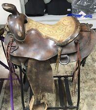 """15"""" Circle Y Round Skirt Roping Saddle"""