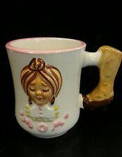 Unique MOM Coffee Cup Mug BEST EVER Japan w/ Leg Handle