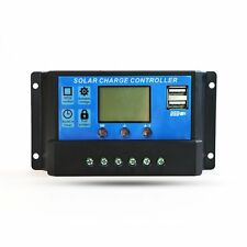 LCD Solar Panel Battery Regulator Charge Controller Dual USB 30A 12V/24V