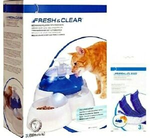 WATER FOUNTAIN / FILTER - Cat Fresh & Clear It Food Bowl Drink Purifying Filter