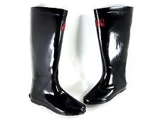 REDFOOT WOMEN'S WALK IN THE PARK FESTIVAL RAIN BOOTS BLK US SZ 6/ UK 4/ EUR 37 M