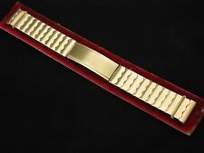 Vintage Flex Let Yellow gold filled expanding clasp watch band 16mm 5/8 art deco