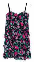Portmans Womens Black Floral Sleeveless Layered Dress Size 8
