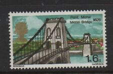 GB 1968 Bridges 1s6d with superb error gold head displaced MNH mint stamp