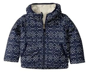 The North Face Toddler Girls' Reversible Perrito Jacket Size 5T Navy Blue Ivory
