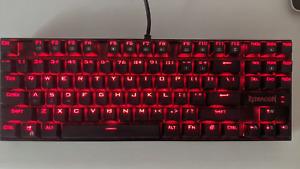Redragon KUMARA K552 Wired Mechanical Gaming Keyboard Red LED Backlight