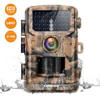 Campark Trail Camera 1080P Hunting Cam 14MP Wildlife Game Scouting Night Vision
