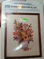 "Crewel Kit, Columbia-Minerva Kit, Hallmark Cards Design ""Natural Floral"""