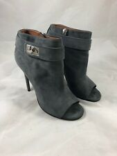 Givenchy Shark-lock Open Toes Booties in Gray Size 36