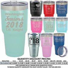 Custom Engraved Vacuum Insulated Tumbler Personalized Business Promotional Gifts