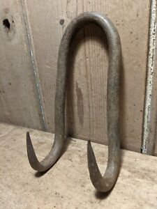 Antique Wrought Iron Gambrel~Hooks~Meat/Beam/Game~Butchers Hooks~Genuine~