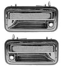 NEW Front Outside Pair Set Door Handle Chrome Fits 95 - 99 Chevy TAHOE SUBURBAN