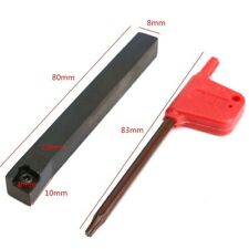 SCLCR0808F06 8mm x 80mm Lathe External Turning Tool Holder For CCMT0602 CNC
