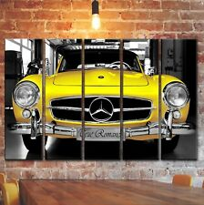 Vintage Mercedes Wall Art Picture Decor Painting On Canvas, Mercedes-Benz Print