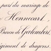 Marie Anne Hennecart 1883 Charles De Bodin De Galembert