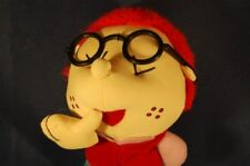 "Boy Doll Red Hair Glasses Plush 9"" Stuffed Toy Lovey"