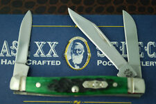 CASE XX SELECT BERMUDA GREEN BONE STOCKMAN KNIFE 1/250