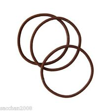 MUJI MUJIRUSHI Hair Rubber Band Color:Brown Three pieces from Japan