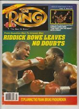 THE RING MAGAZINE RIDDICK BOWE-EVANDER HOLYFIELD BOXING HOFers COVER MARCH 1993