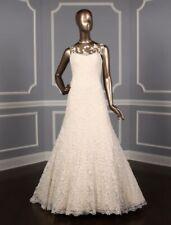 Romona Keveza Couture RK5452 Lace Wedding Dress D. White Blush Aline 10 $7470
