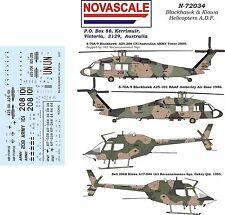 ADF Blackhawk & Kiowa Decals 1/72 Scale N72034