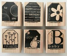 Happy Birthday Gift Tag Wood Mounted Rubber Stamp By Stampin Up Present Terrific Tags