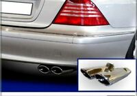 ENDROHR AUSPUFFBLENDE AMG STYLE MERCEDES S-KLASSE W220 S280 S320 S400 CDI S350