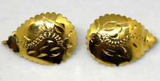 10K Solid Yellow Gold Floral Earrings