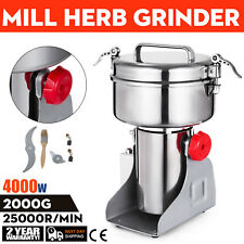 2000g High Speed Electric Herb Grain Grinder Cereal Mill Flour Powder Machine