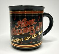 Vintage '81 HANK WILLIAMS JR 'A Country Boy Can Survive' Souvenir Coffee Mug Cup